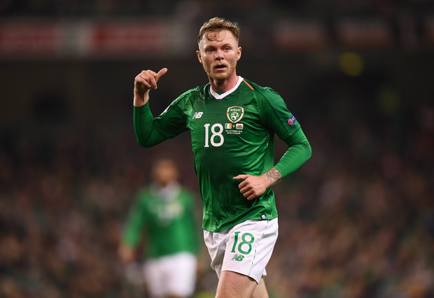 16 October 2018; Aiden O'Brien of Republic of Ireland during the UEFA Nations League B group four match between Republic of Ireland and Wales at the Aviva Stadium in Dublin. Photo by Stephen McCarthy/Sportsfile