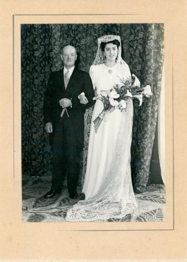 Elizabeth and her husband on their wedding day, 1945 (Photo: Maynooth University Library)