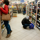 The statistics show that alcohol is the main lure for shoppers. Stock image Photo: Bloomberg