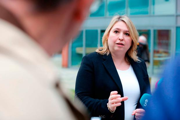Warning shot: Karen Bradley said a no-deal will be bad for businesses. Photo: Kelvin Boyes/Press Eye/PA Wire