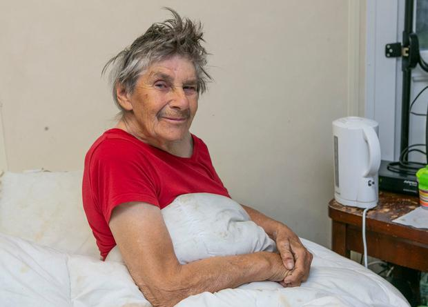 Recovering: Attack victim Jenny Powell in her home in Mulhuddart in west Dublin. Photo: Kyran O'Brien