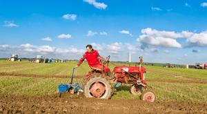 Trevor Fleming from Castlemartyr, Co. Cork ploughing with his 1948 Mc Cormick tractor at Ballyfeard Ploughing Match, Co. Cork. Photo: Michael Mac Sweeney/Provision