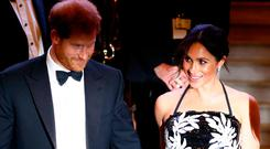 Britain's Prince Harry and Meghan, the Duchess of Sussex, leave after the Royal Variety Performance in London, Britain November 19, 2018. REUTERS/Henry Nicholls