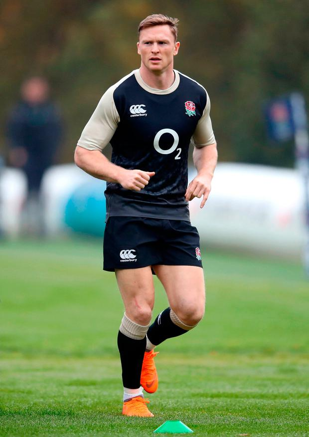 File photo dated 06-11-2018 of England's Chris Ashton. PRESS ASSOCIATION Photo. Issue date: Tuesday November 20, 2018. England wing Chris Ashton has been ruled out of Saturdays match against Australia by a calf injury, forwards coach Steve Borthwick said. See PA story RUGBYU England. Photo credit should read Adam Davy/PA Wire