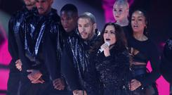 Cheryl performing her new single on ITV's The X Factor (Dymond/Thames/Syco/REX/Shutterstock).