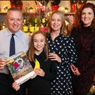 Pictured at Dunnes Stores, Rathmines (l-r): Harry Mullen (Store Manager, Dunnes Stores), Ava Lewis (overall winner from Terenure), Cliona O'Reilly (Marketing Manager, Irish Independent) and Emma Hunt-Duffy (Sales & Marketing Manager, Fyffes).