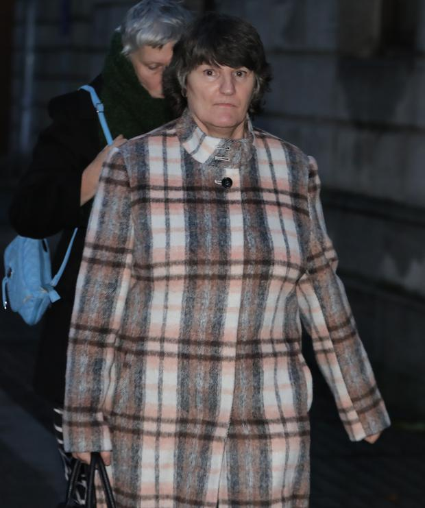 Fidelma Kerrigan, from Ballyshannon, Co. Donegal pictured leaving the Four Courts after the second day of a High Court action.Pic: Collins Courts