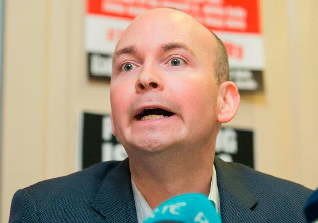 Jobstown trial: Solidarity-People Before Profit TD Paul Murphy. Photo: Gareth Chaney, Collins