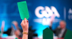How Central Council delegates vote on the proposed football rule changes on Saturday will shape the direction of the game. Photo: Sportsfile