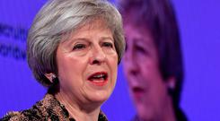 Theresa May. Picture: REUTERS/Toby Melville