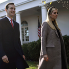 Email trail: Ivanka Trump and her husband Jared Kushner arrive for the annual turkey pardoning ceremony at the White House yesterday. Photo: Getty Images