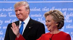 Donald Trump frequently criticised Hillary Clinton's email use. Photo: Getty Images