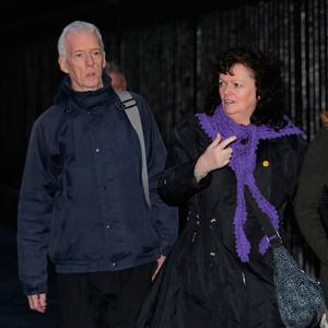 Fight: John and Jacqueline Keenaghan, from Ballyshannon, Co Donegal, leaving the Four Courts. Photo: Collins Courts