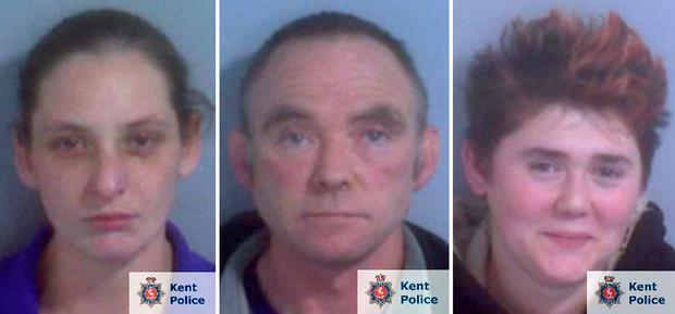 Undated Kent Police handout photos of (left to right) Hayley Weatherall, her lover Glenn Pollard and his daughter Heather Pollard. All three have been sentenced to life imprisonment over a plot to kill Weatherall's terminally ill husband by shooting him in the face. PRESS ASSOCIATION Photo. Issue date: Tuesday November 20, 2018. Photo: Kent Police/PA Wire
