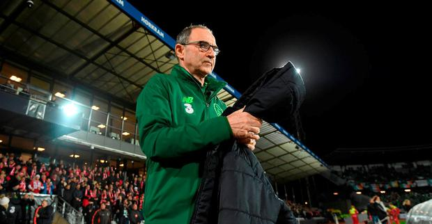 Republic of Ireland manager Martin O'Neill prior to the UEFA Nations League B match between Denmark and Republic of Ireland at Ceres Park in Aarhus, Denmark. Photo by Stephen McCarthy/Sportsfile