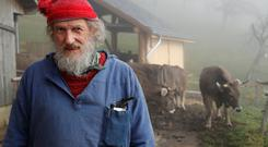 Armin Capaul, the horned cow initiative (Hornkuh-Initiative) founder, poses ahead of a national vote on November 25, at the Valengiron farm in Perrefitte near Moutier, Switzerland, November 15, 2018. Picture taken November 15, 2018. REUTERS/Denis Balibouse