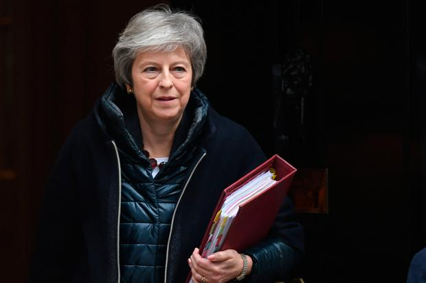 Prime Minister Theresa May leaving 10 Downing Street, London, Wednesday November 21, 2018. Photo: Stefan Rousseau/PA Wire