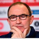Martin O'Neill during a Republic of Ireland press conference Photo: Stephen McCarthy/Sportsfile