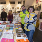 Hen's Teeth staff and Rosie Grogan-Keogh (far right) at her Fade St shop Credit: Colin O'Riordan