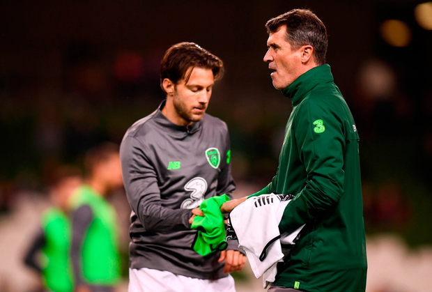 A falling out between Roy Keane and Harry Arter was revealed on WhatsApp. Photo: Sportsfile
