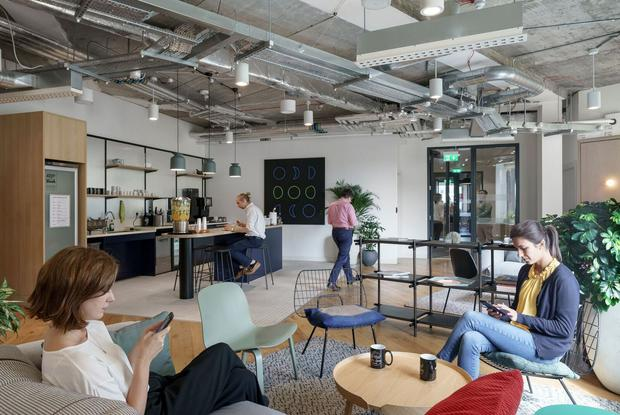 Back to the future: WeWork's existing sites at Iveagh Court and George's Quay reflect its trademark investment in interior design and creating a relaxed work environment and it is planning a '70s vibe' for its latest project here