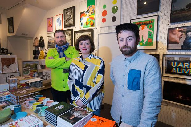 Antidote: Hen's Teeth staff Russell Simons, Rosie Grogan-Keogh and Greg Spring at their Fade Steet shop