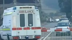 Screen grab issued by North Yorkshire Police showing the decommissioned ambulance. PRESS ASSOCIATION Photo.