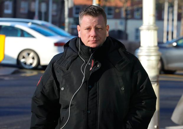 Michael Kelly from Malahide, Dublin, pictured at the Four Courts for the second day of his High Court action for damages Pic: Collins Courts