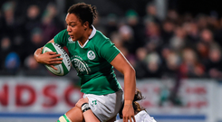 The DCU women's team lost Ireland international Sophie Spence as their manager at the start of the season but Eddie Fallon has made a big impression since taking on the role. Photo: Matt Browne/Sportsfile