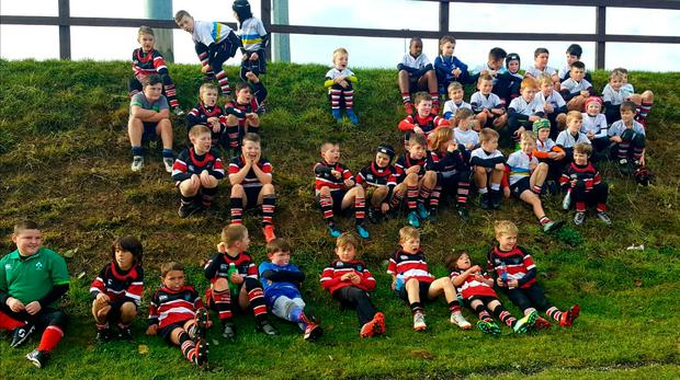 Some of the U-9s enjoy a well-earned rest in between games