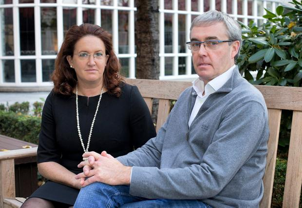 Upset: Susanna and Chris Cawley, sister and brother of Celine Cawley. Photo: Tony Gavin