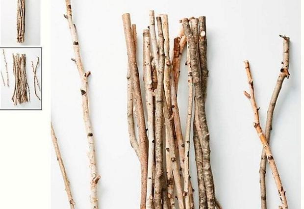 Rustic: 'Decorative branches' for €45 with Anthropologie