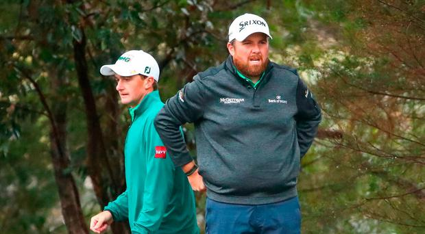 Shane Lowry and Paul Dunne struggle in blustery conditions to fall off the pace at the World Cup of Golf