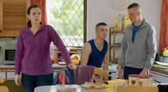 Hilary Rose, Alex Murphy, and Chris Walley in The Young Offenders