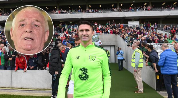 Eamon Dunphy (inset) doesn't think Robbie Keane should be given the role of Irish assistant