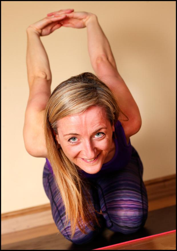 After her shock cancer diagnosis, May McKeon decided to pursue her dream of becoming a yoga instructor. Pic Steve Humphreys