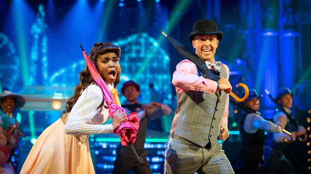 Oti Mabuse and Graeme Swann in Blackpool. (Guy Levy/BBC)