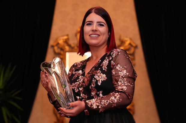 Honoured: Carer of the year 2018 Brenda O'Connell with her award. Photo: Maxwells