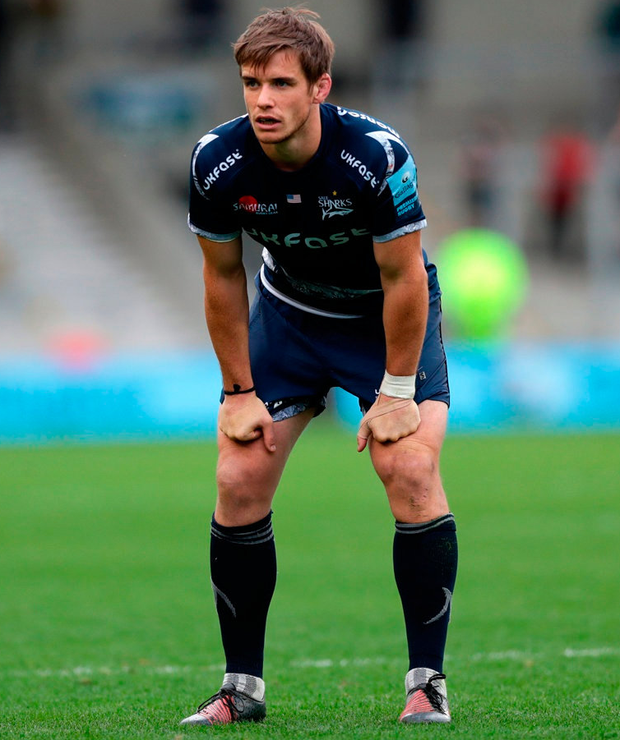 Injury will prevent AJ MacGinty lining out for the USA Eagles at Lansdowne Road today. Photo: Lynne Cameron/Getty Images