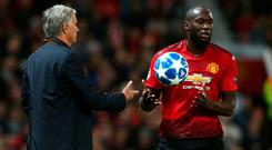 Jose Mourinho has been searching for answers to explain Romelu Lukaku's poor form. Photo: Matthew Peters/Man Utd via Getty Images