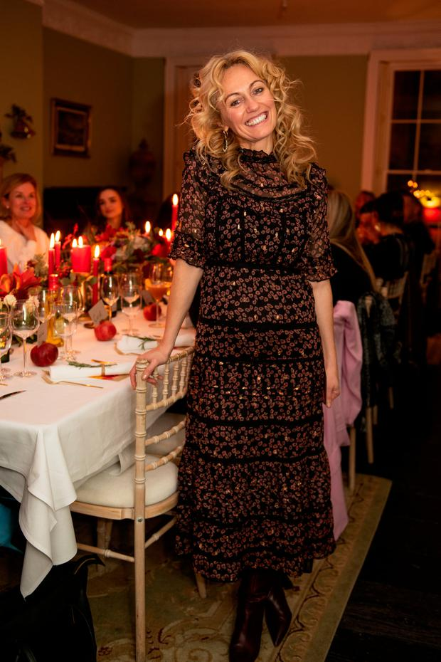 Clodagh McKenna at the Don Carlos x Clodagh McKenna Supper Club event at No. 4 Parliament St., Dublin 2