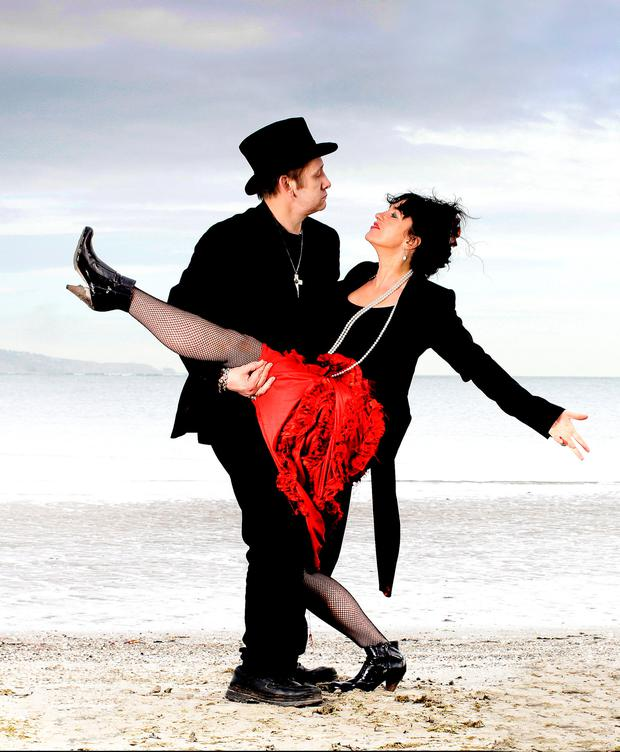 REAL-LIFE FAIRYTALE: Shane and Victoria pictured together on Sandymount Strand, Dublin, in 2008. Photo: David Conachy