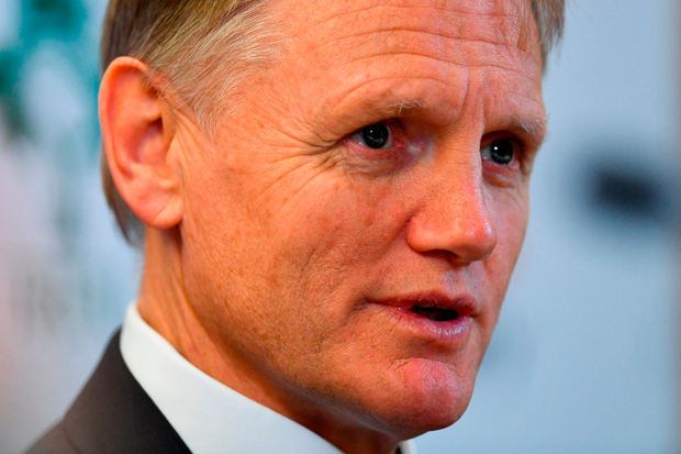 Ireland head coach Joe Schmidt during a post-match press conference yesterday. Photo by Ramsey Cardy/Sportsfile
