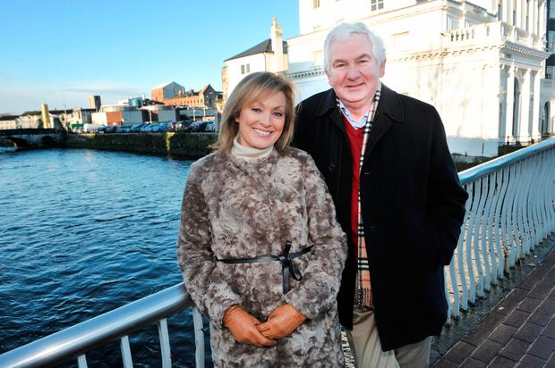 'Nationwide' presenters present and past Mary Kennedy and Michael Ryan. Photo: Daragh Mc Sweeney/Provision