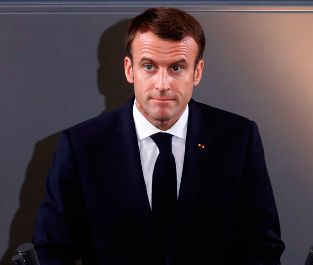 French President Emmanuel Macron in Berlin. Photo: Getty Images