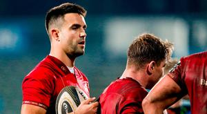 Conor Murray of Munster during the Guinness PRO14 Round 9 match between Zebre and Munster at Stadio Sergio Lanfranchi in Parma, Italy. Photo by Roberto Bregani/Sportsfile