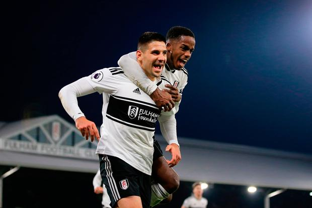 Sessegnon's flicked header set up Aleksander Mitrovic for Fulham's winning goal. Photo: Marc Atkins/Getty Images