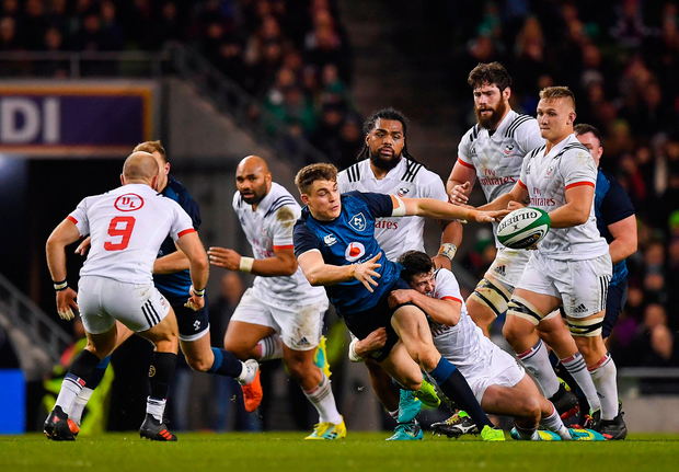 Garry Ringrose is a product of the most efficient developmental system in world rugby. Photo by Brendan Moran/Sportsfile