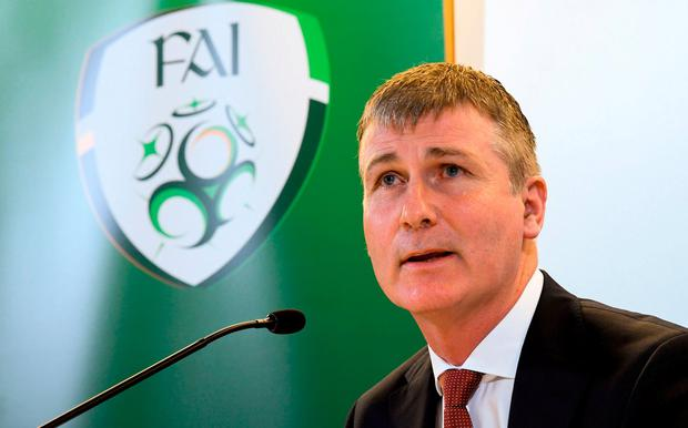 Newly appointed Republic of Ireland U21 manager Stephen Kenny during a press conference at Aviva Stadium in Dublin. Photo by Stephen McCarthy/Sportsfile