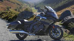 BMW K1600B above Glendalough in the Wicklow Mountains